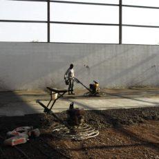 Execução de rebocos e betonilhas
