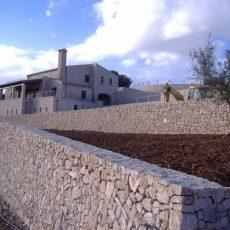 Execução de muros em pedra